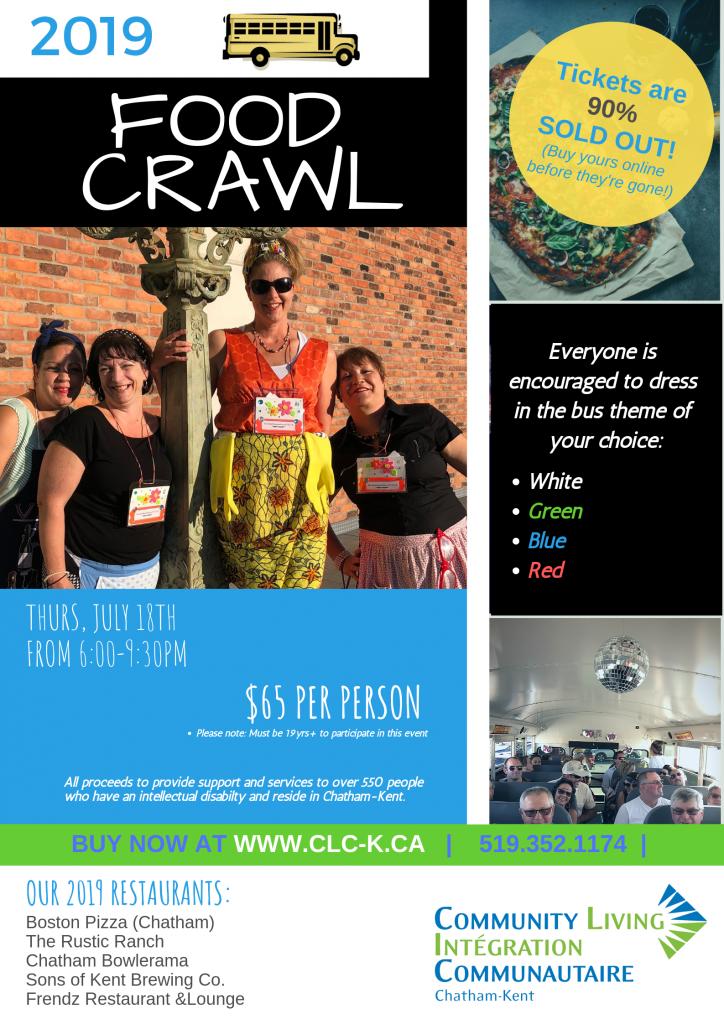 Food Crawl Poster 2019