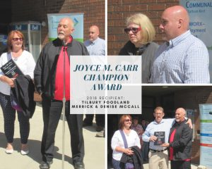 Joyce M. Carr Champion award