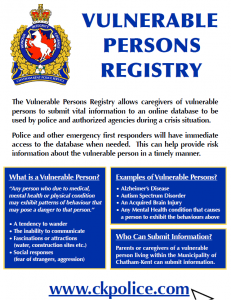 Vulnerable Persons Registry
