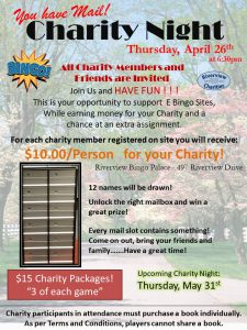 April Charity Bingo Night!