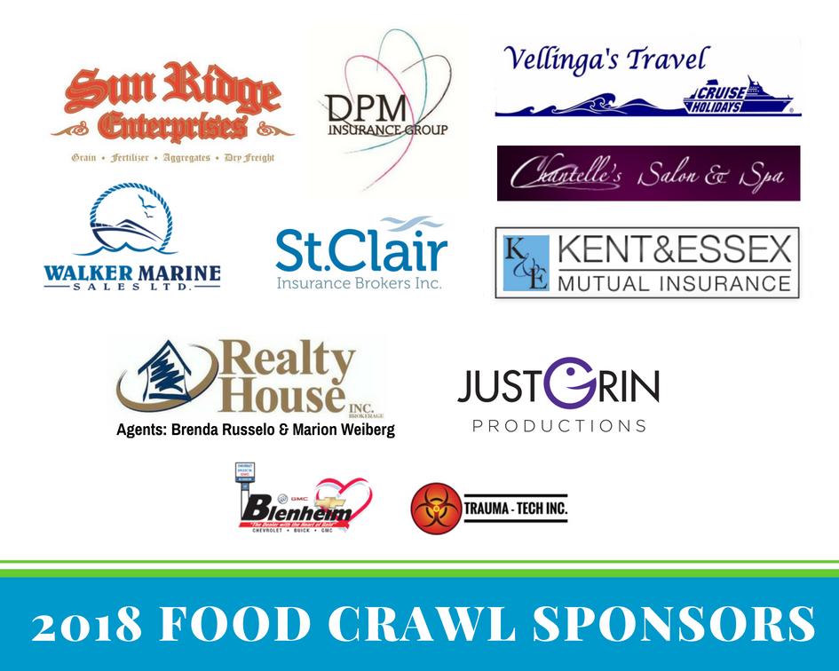 Food Crawl Sponsors 2018
