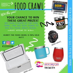 Food Crawl - PRIZES