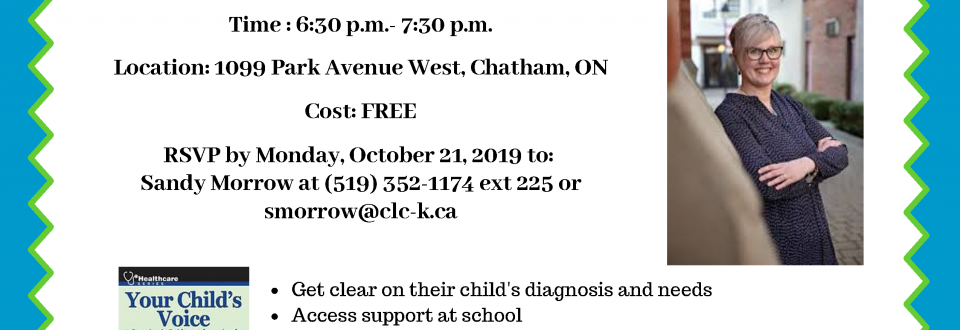 How to advocate for Kids with special needs workshop october 22