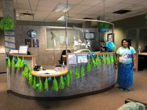 administrative office during community living month