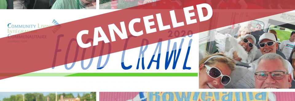 2020 Food Crawl Cancelled
