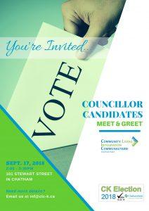 2018 Municipal Councillor Candidate Meet & Greet