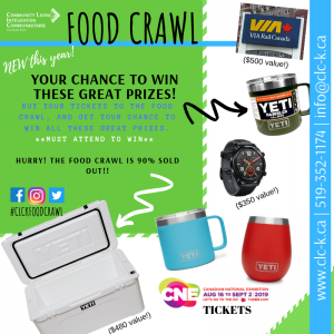 Food Crawl - PRIZES