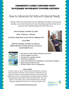 'How to Advocate for Kids with Special Needs' Workshop – Oct 22, 2019