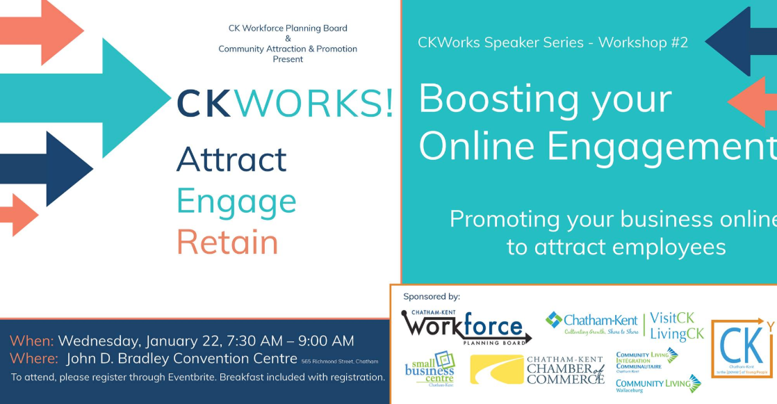 CKWorks! Boosting your online engagement workshop coming Jan 22nd