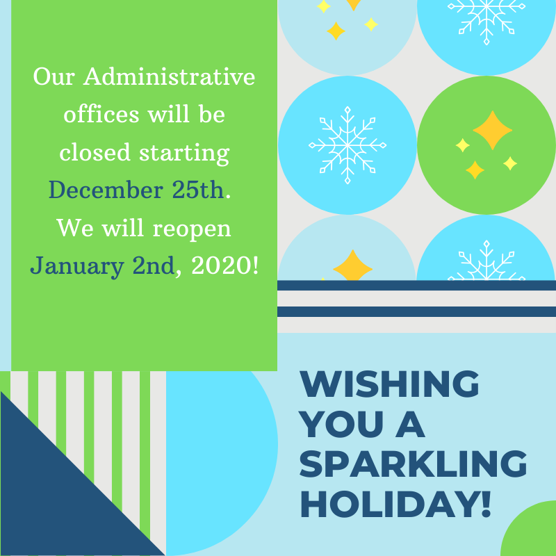 Administrative Offices will be Closed for the Holidays