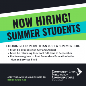 NOW HIRING! Summer Students