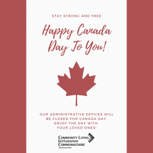 Administrative Offices closed for Canada Day